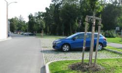 Parkoviště přímo u stadionu FC Viktoria Plzeň